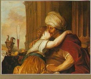 David en Batseba als minnaars (2 Samuel 11:4)