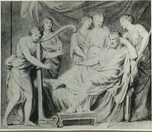 David speelt harp voor Saul (1 Samuel 16:14-23)