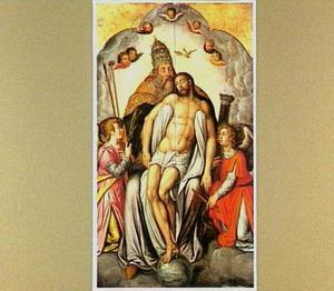 Drieëenheid en engelen met de instrumenten van de Passie
