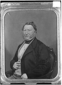 Portret van een man, mogelijk Johannes Bernardus Helmich (1792-1862) of Augustus Alexander Wilhelmus van der Heyden (1803-1868)