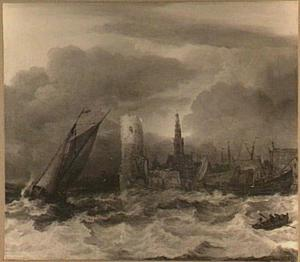 Schepen voor een haven