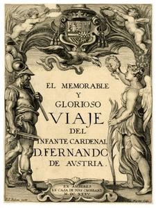 Titelpagina voor D. De Aedo Y Gallaert, El ... Viaje del Infante Cardenal ..., Antwerpen 1635