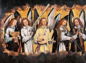 Vijf musicerende engelen