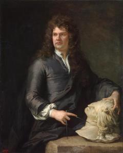 Portret van de beeldhouwer Grinling Gibbons