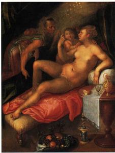 Danaë ontvangt Jupiter in de gedaante van een regen van goud (Metamorfosen 4:611)