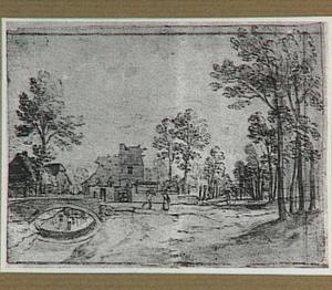 Landschap met het kasteel Over Muelen