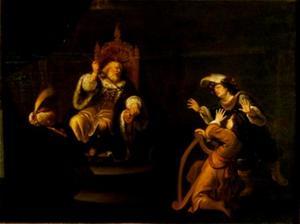 Saul probeert David te doden terwijl deze zijn harp bespeelt