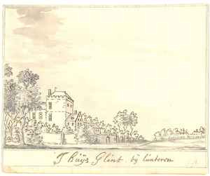 Landschap met het huis Glinthorst bij Barneveld