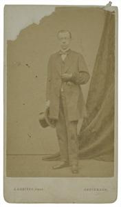 Portret van Petrus van der Crab (1827-1895)