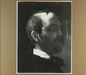Portret van de schilder Georg Laves (1825-1907) op 32-jarige leeftijd