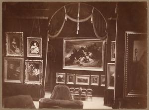 Zaal van de tentoonstelling van Ary Scheffer in de Hôtel du Marquis d'Hertford, 26 Boulevard des Italiens te Parijs, 1859