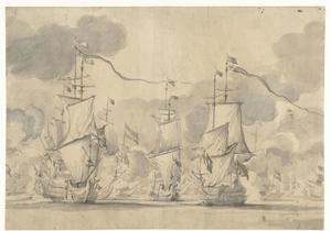 Zeeslag bij Lowestoft op 13 Juni 1665