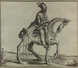 Geharnaste ruiter te paard