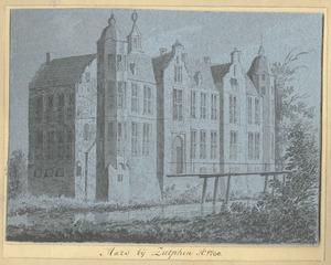 Het huis De Marsch bij Zutphen van de voorzijde anno 1730