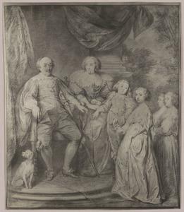 Portret van Jan VIII 'de Jongste', graaf van Nassau-Siegen (1583-1638) met zijn gezin