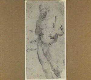 Studie van een staande, naakte man