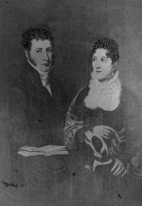 Dubbelportret van Michiel Viruly (1781-1852) en Johanna Catharina Matthijssen (1794-1880)