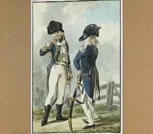 Twee officieren bij een hek