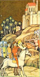 Keizer Conrad III en Koning Lodewijk VII trekken Hongarije door