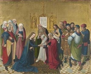 De verloving van Maria (achterzijde: bovenste helft van de Kroning van Maria)