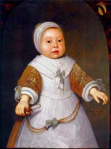 Portret van een meisje uit het geslacht Van der Burch