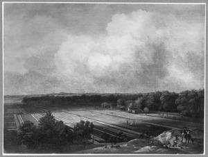 Landschap met linnenblekerij bij Haarlem