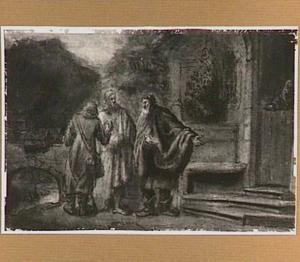 Christus en de twee leerlingen in Emmaus