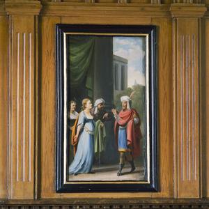 De meisjes, waaronder Ester, op weg naar  koning Ahasveros (Ester 2)
