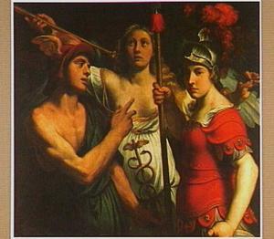 Minerva, Hermes en Fama: Allegorie op roem