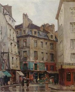 Een Parijse straatscène