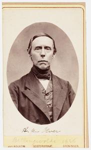 Portret van Albartus ten Oever (1814-1891)