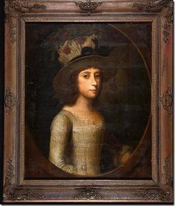 Portret van een meisje, genaamd Johanna Hodshon (1761-1780)