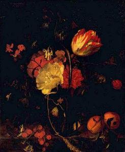 Bloemen, fruit en insecten