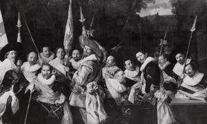 Groepsportret van de officieren en onderofficieren der Kloveniersdoelen, Haarlem 1633
