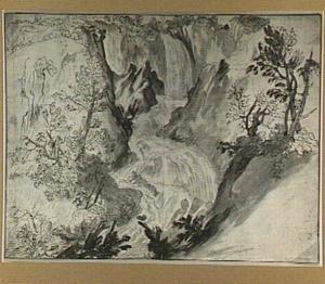 Bergstroom met waterval