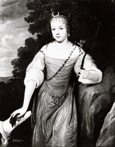 Portret van Ursula Anna zu Dohna (1654-1678)