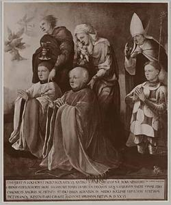 De HH. Johannes de Evangelist, Anna, moeder van Maria en Willibrord (?), met Gijsbert, Herman en Gerrit (?) van Lockhorst