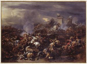 De veldslag tussen Alexander de Grote en Porus bij de Hydaspes