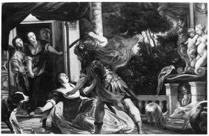Odysseus dwingt Circe zijn in varkens veranderde kameraden te bevrijden (Homerus, Odyssee, X)