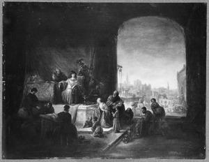 Jozef verkoopt graan als onderkoning van Egypte (Genesis 41:56 of 47:14)
