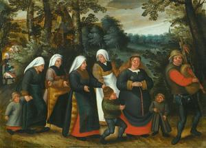 Processie van de bruid
