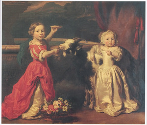 Dubbelportret van twee onbekende meisjes
