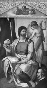De Apostel Matteüs met een donor