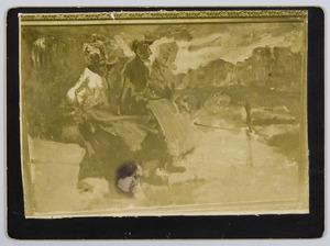 Vrouwen op een brug