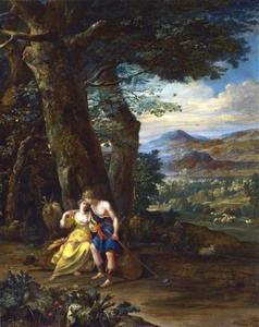 Landschap met herderspaar