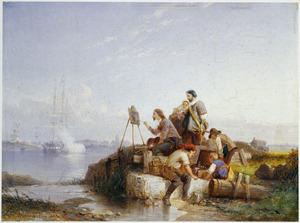 Joseph Vernet aan het werk bij Dordrecht, 1765