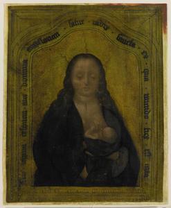 Maria geeft het kind de borst