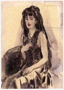 Portret van Elisa ('Liesje') Sluijters (1924-2010)