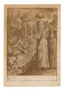 De H. Giovanni Gualberto laat het klooster van Moscheta door een riviertje verwoesten