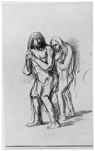 Adam en Eva na de zondeval (Genesis 3:20)